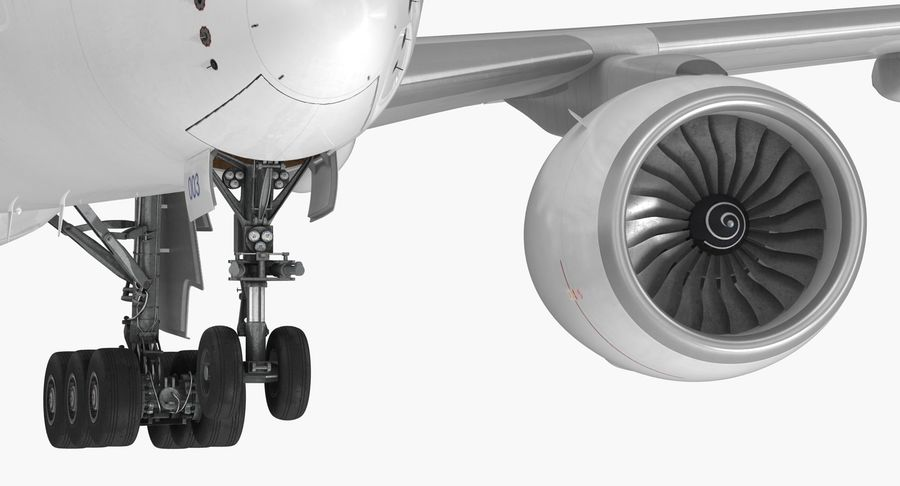 Airbus A350-1000 Generic royalty-free 3d model - Preview no. 16