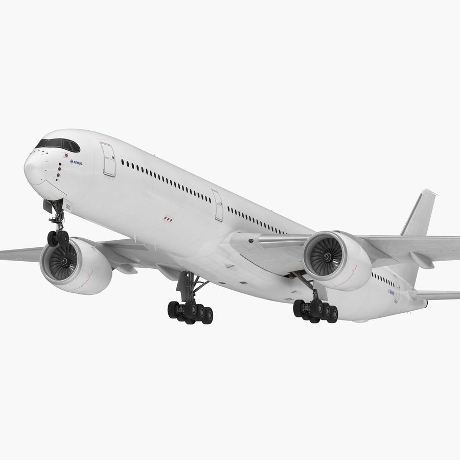 Airbus A350-1000 Generic royalty-free 3d model - Preview no. 1