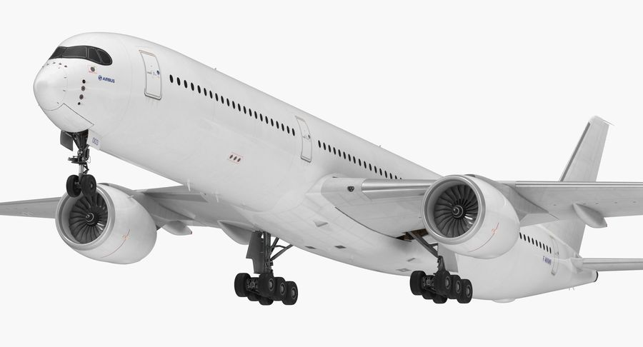 Airbus A350-1000 Generic royalty-free 3d model - Preview no. 2