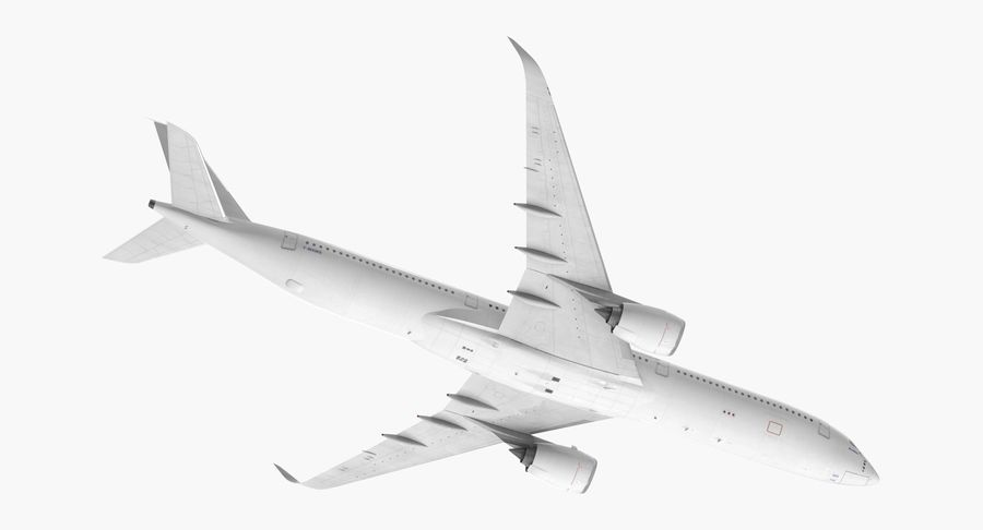 Airbus A350-1000 Generic royalty-free 3d model - Preview no. 7