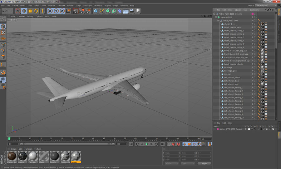 Airbus A350-1000 Generic royalty-free 3d model - Preview no. 24