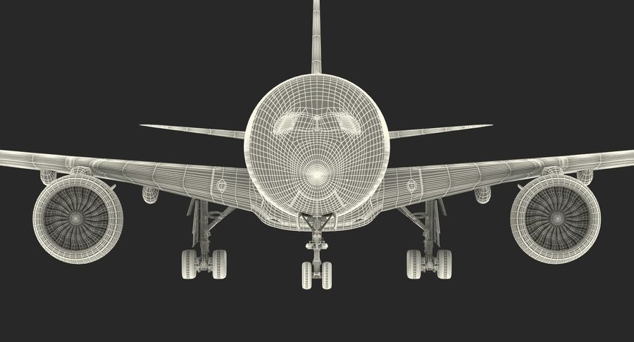 Airbus A350-1000 Generic royalty-free 3d model - Preview no. 29