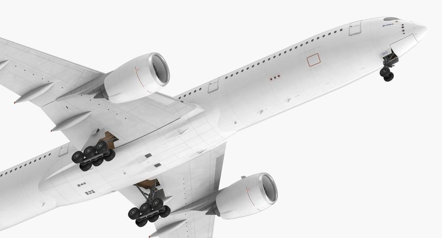 Airbus A350-1000 Generic royalty-free 3d model - Preview no. 15