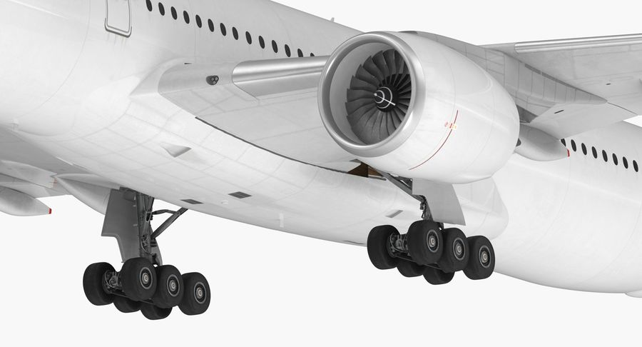 Airbus A350-1000 Generic royalty-free 3d model - Preview no. 18