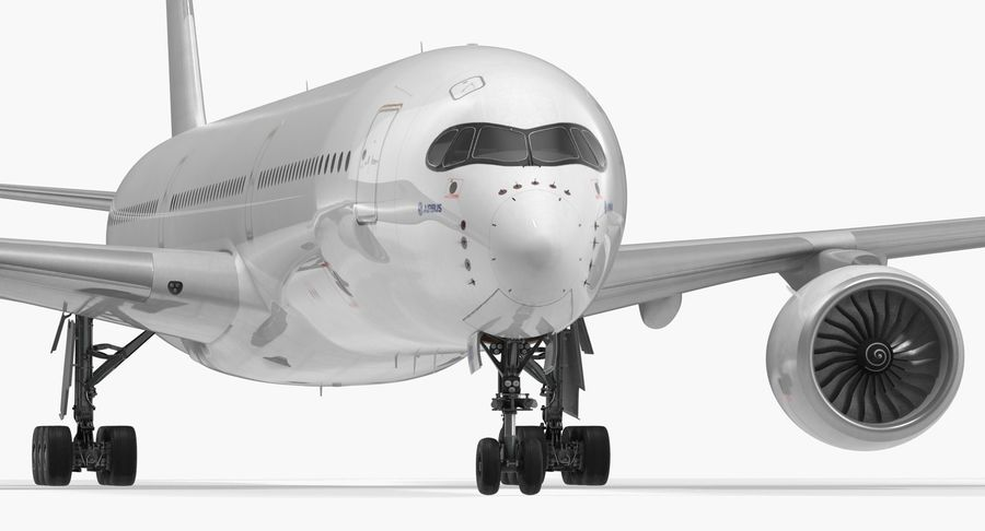 Airbus A350-1000 Generic royalty-free 3d model - Preview no. 14
