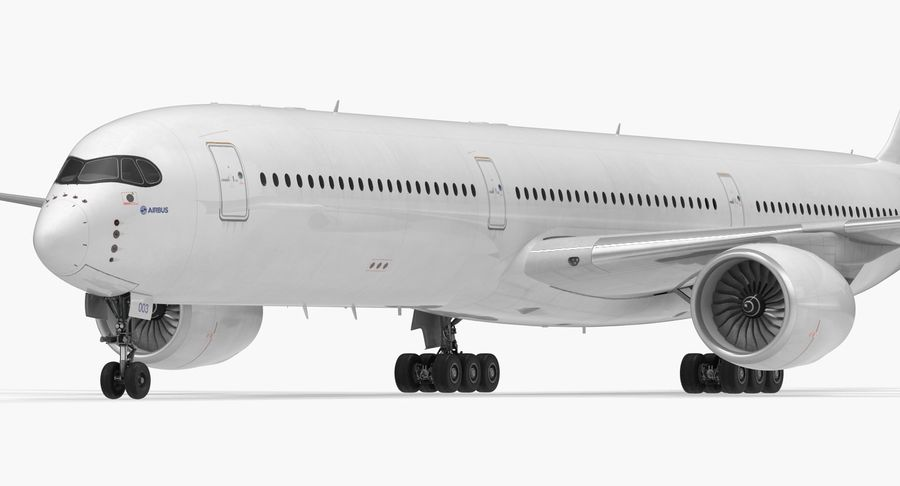 Airbus A350-1000 Generic royalty-free 3d model - Preview no. 13