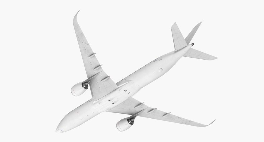 Airbus A350-1000 Generic royalty-free 3d model - Preview no. 11