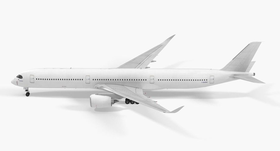 Airbus A350-1000 Generic royalty-free 3d model - Preview no. 6