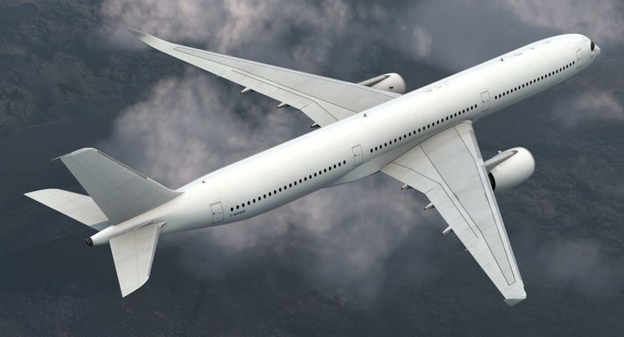 Airbus A350-1000 Generic royalty-free 3d model - Preview no. 4