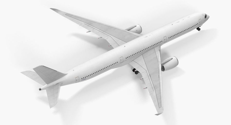 Airbus A350-1000 Generic royalty-free 3d model - Preview no. 10