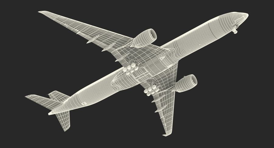 Airbus A350-1000 Generic royalty-free 3d model - Preview no. 28