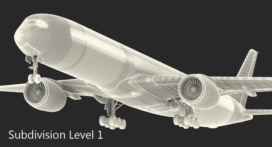 Airbus A350-1000 Generic royalty-free 3d model - Preview no. 20