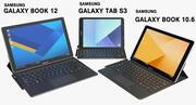 Samsung Galaxy Tab S3, Galaxy Book 10.6 и Galaxy Book 12 с S Pen и клавиатурой (в комплекте) 3d model