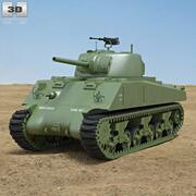 M4A2 셔먼 3d model