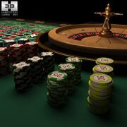 Casino Roulette Table 3d model
