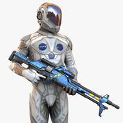 Ruimte soldaat 3d model