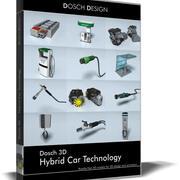 DOSCH 3D - Tecnología de automóvil híbrido modelo 3d