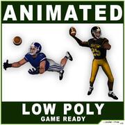 アメリカンフットボール選手低ポリ 3d model