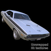 Dodge Challenger RT 1971 - Classic Muscle Car 3d model