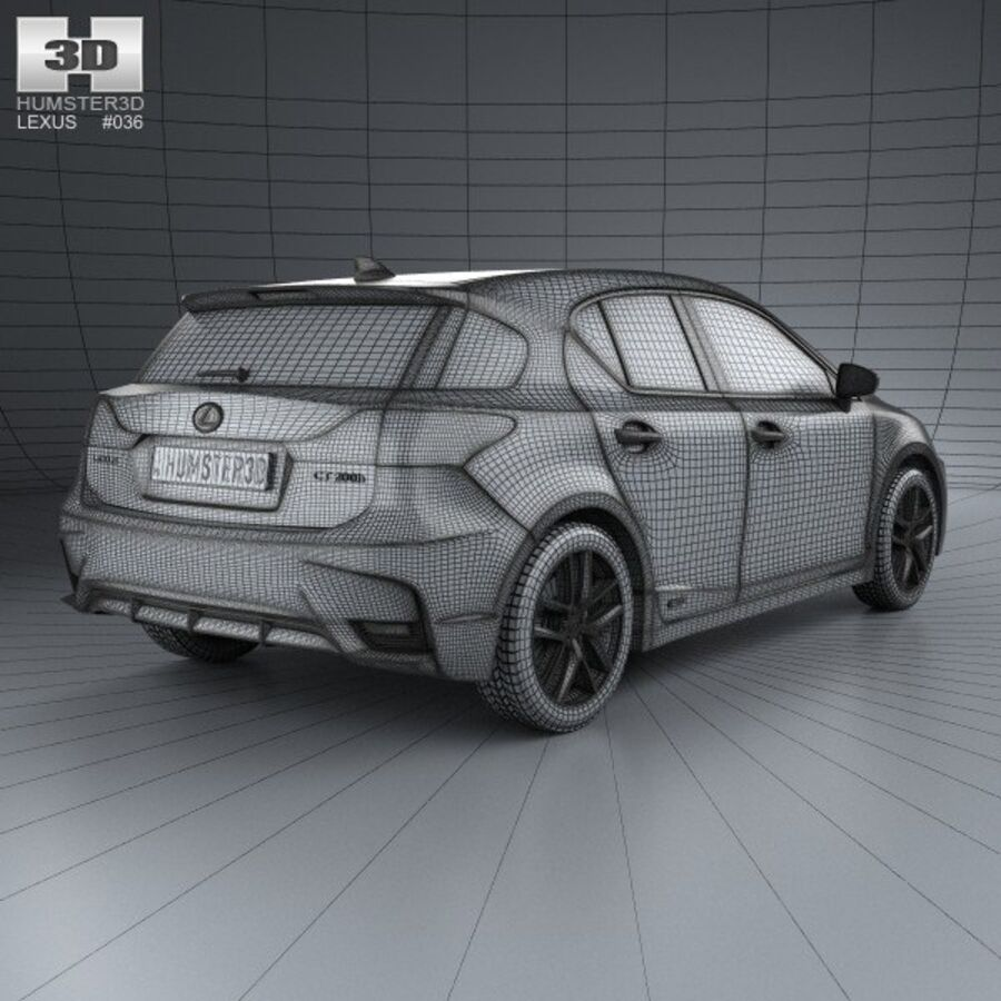 Lexus CT 2014 royalty-free 3d model - Preview no. 4