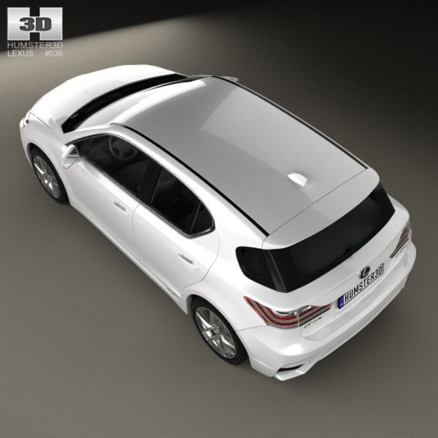 Lexus CT 2014 royalty-free 3d model - Preview no. 9