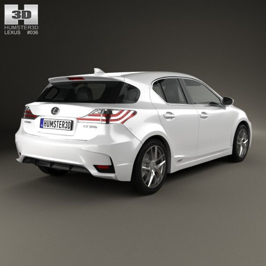 Lexus CT 2014 royalty-free 3d model - Preview no. 2