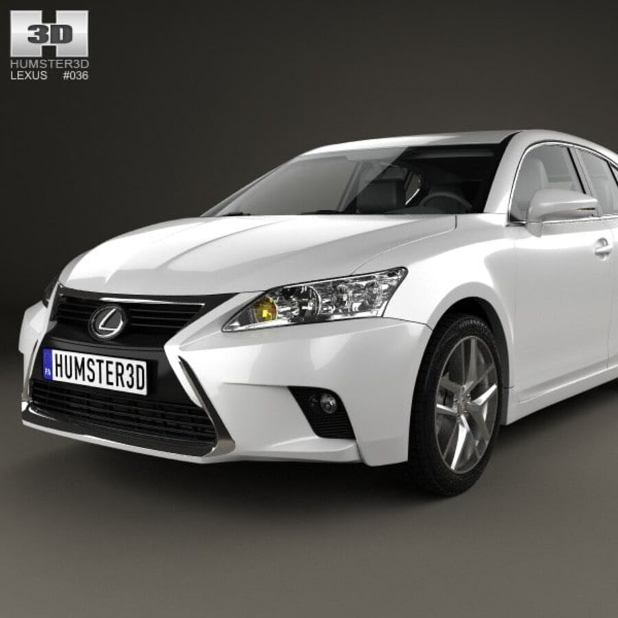 Lexus CT 2014 royalty-free 3d model - Preview no. 6