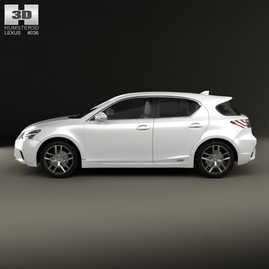 Lexus CT 2014 royalty-free 3d model - Preview no. 5