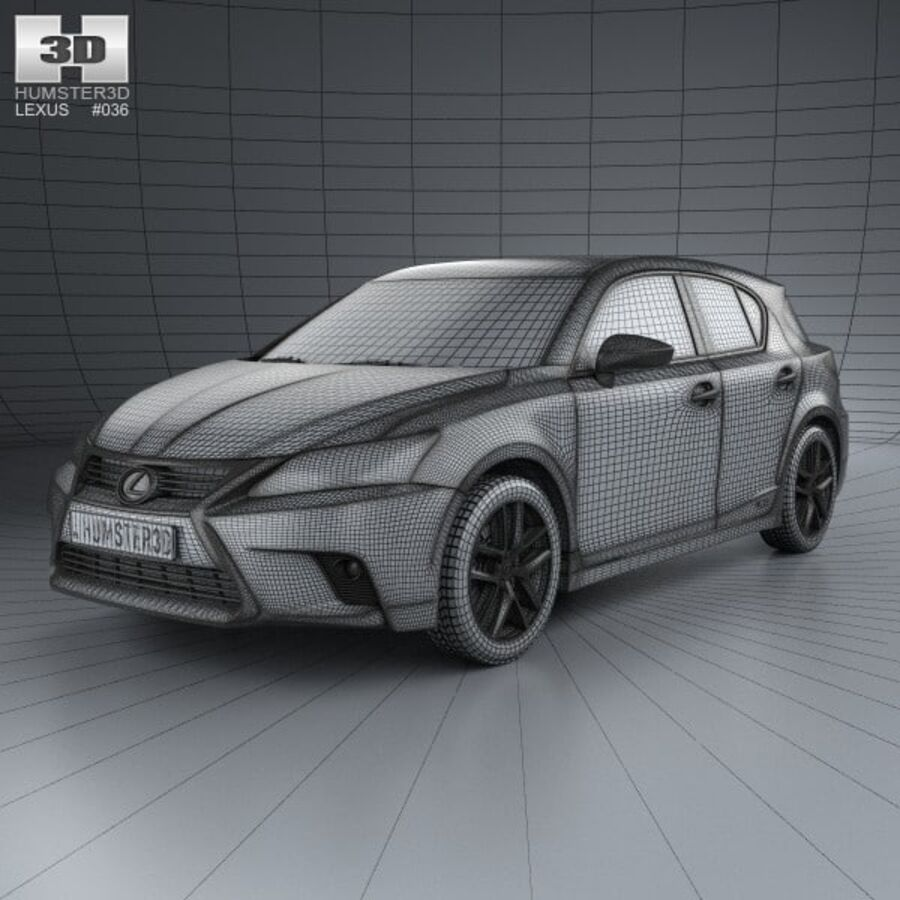 Lexus CT 2014 royalty-free 3d model - Preview no. 3