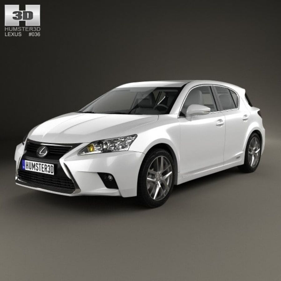 Lexus CT 2014 royalty-free 3d model - Preview no. 1