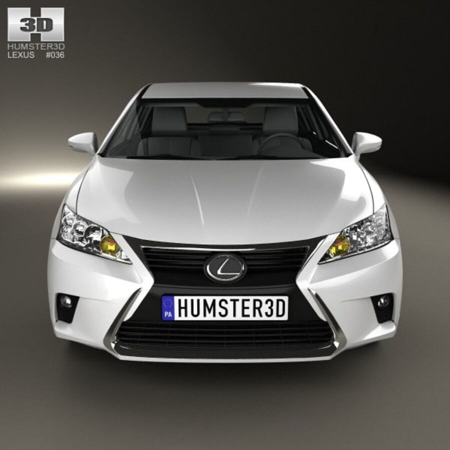 Lexus CT 2014 royalty-free 3d model - Preview no. 10