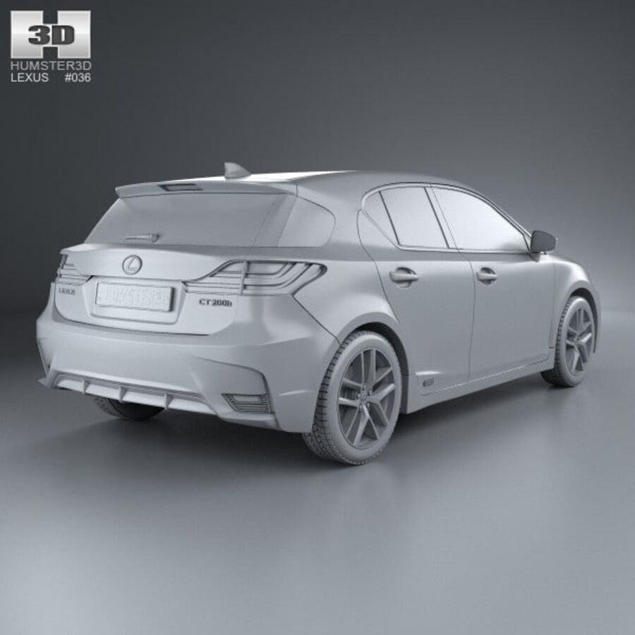 Lexus CT 2014 royalty-free 3d model - Preview no. 12