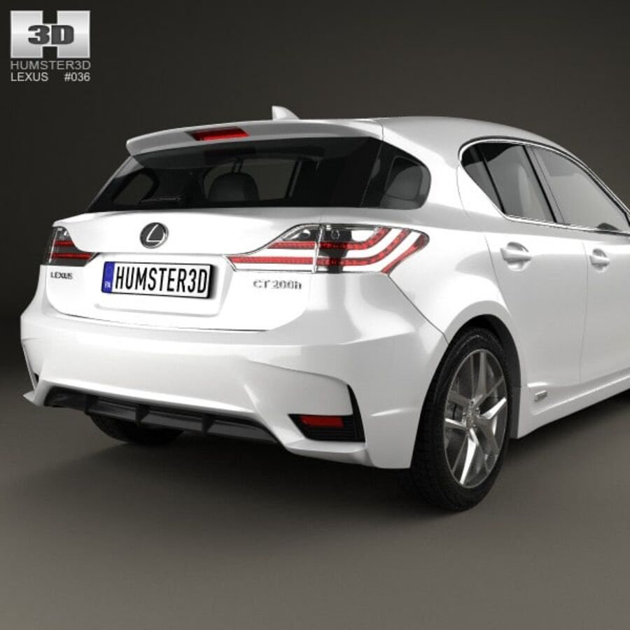 Lexus CT 2014 royalty-free 3d model - Preview no. 7