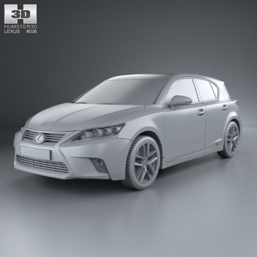 Lexus CT 2014 royalty-free 3d model - Preview no. 11