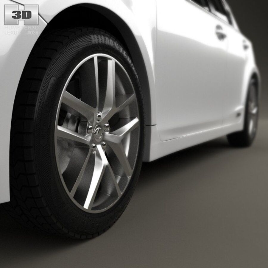 Lexus CT 2014 royalty-free 3d model - Preview no. 8