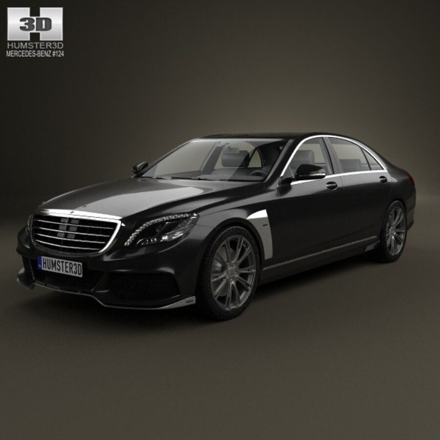 Mercedes-Benz S-Class (W222) Brabus 2014 royalty-free 3d model - Preview no. 1