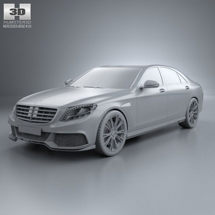 Mercedes-Benz S-Class (W222) Brabus 2014 royalty-free 3d model - Preview no. 11