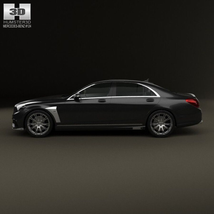 Mercedes-Benz S-Class (W222) Brabus 2014 royalty-free 3d model - Preview no. 5