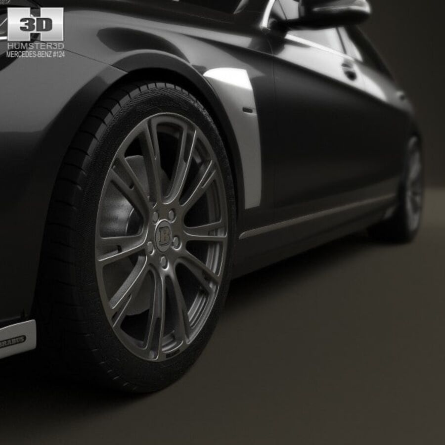 Mercedes-Benz S-Class (W222) Brabus 2014 royalty-free 3d model - Preview no. 8