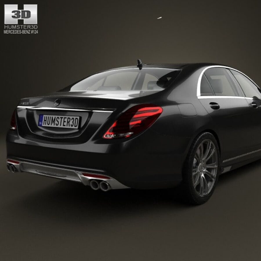 Mercedes-Benz S-Class (W222) Brabus 2014 royalty-free 3d model - Preview no. 7