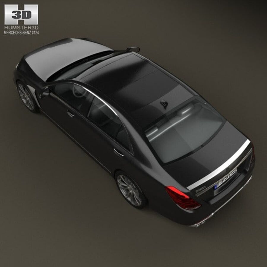 Mercedes-Benz S-Class (W222) Brabus 2014 royalty-free 3d model - Preview no. 9
