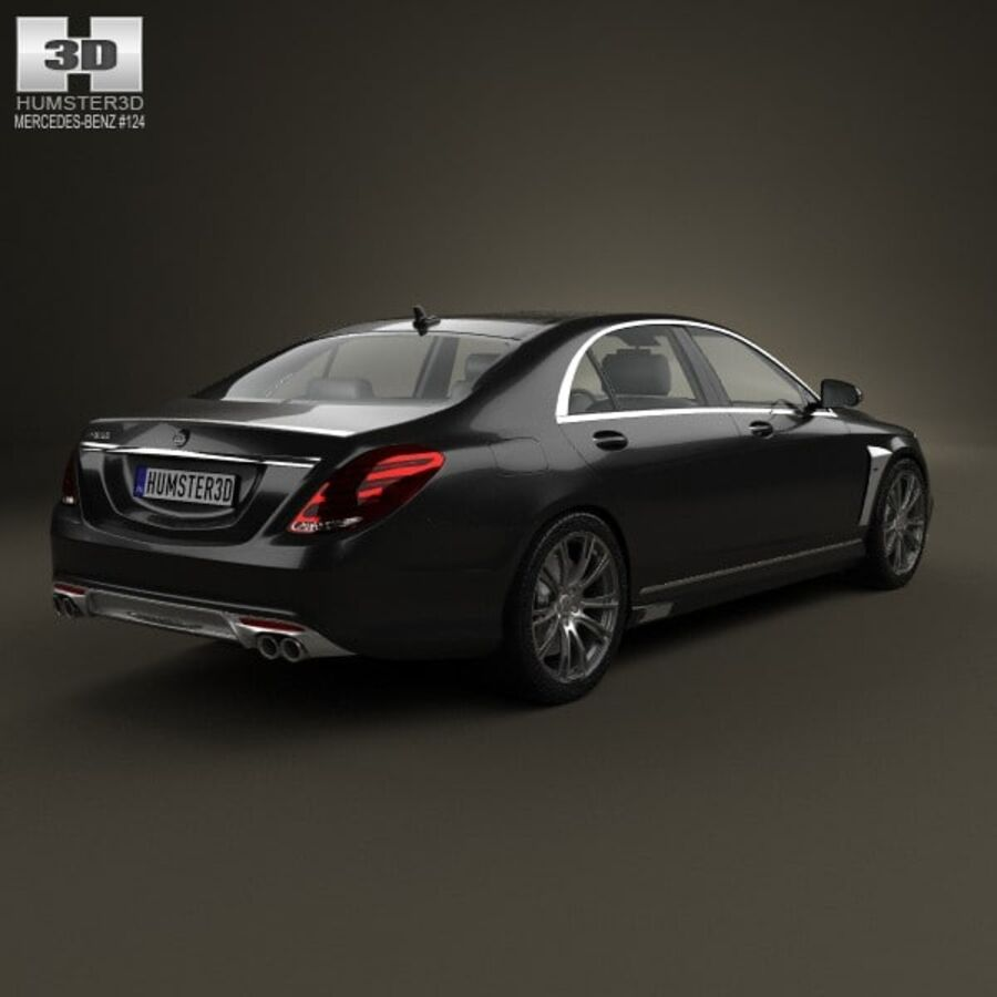 Mercedes-Benz S-Class (W222) Brabus 2014 royalty-free 3d model - Preview no. 2