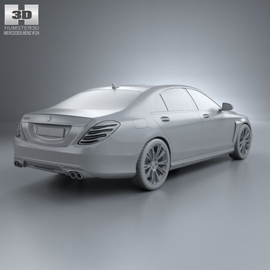 Mercedes-Benz S-Class (W222) Brabus 2014 royalty-free 3d model - Preview no. 12