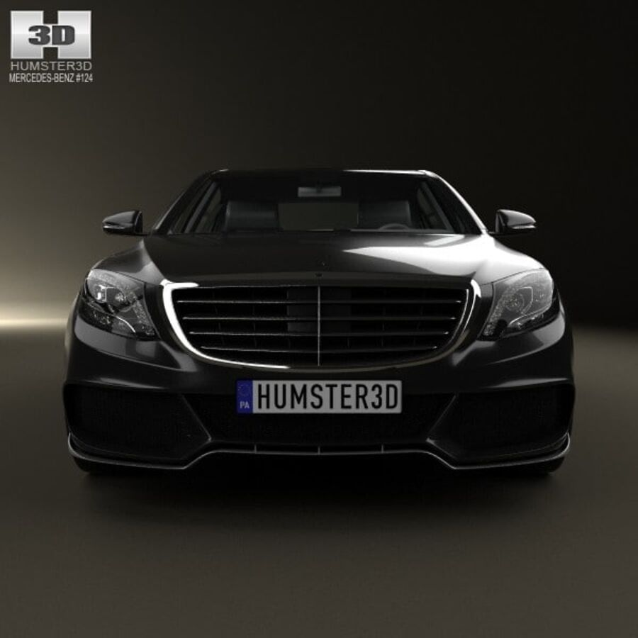 Mercedes-Benz S-Class (W222) Brabus 2014 royalty-free 3d model - Preview no. 10