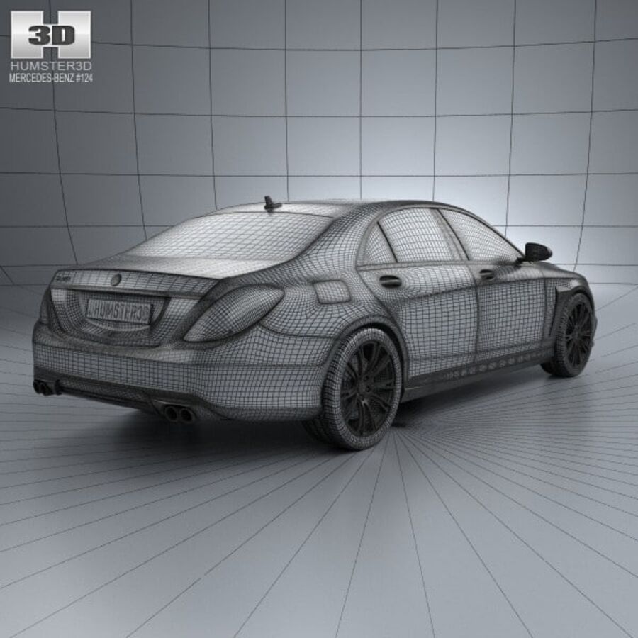 Mercedes-Benz S-Class (W222) Brabus 2014 royalty-free 3d model - Preview no. 4
