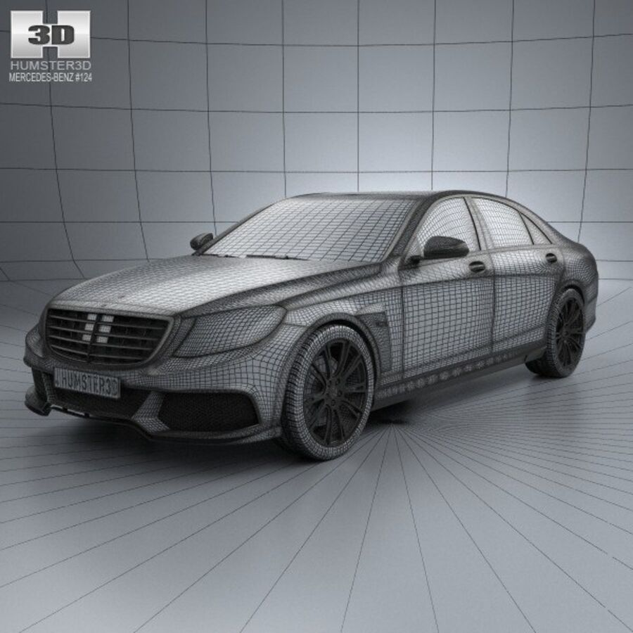 Mercedes-Benz S-Class (W222) Brabus 2014 royalty-free 3d model - Preview no. 3