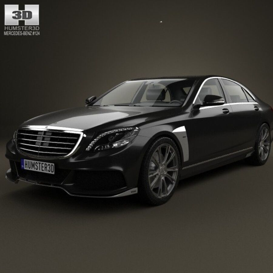 Mercedes-Benz S-Class (W222) Brabus 2014 royalty-free 3d model - Preview no. 6