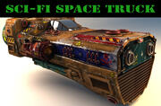 camión espacial de ciencia ficción modelo 3d