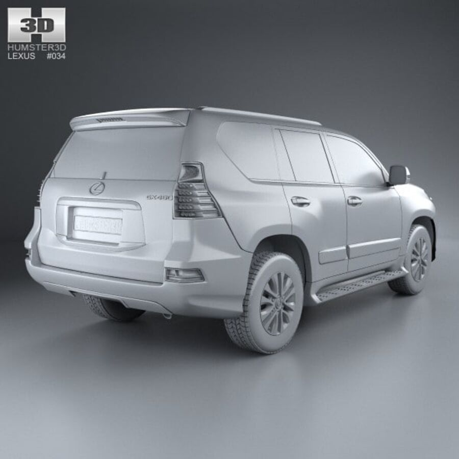 レクサスGX(J150)2014 royalty-free 3d model - Preview no. 12