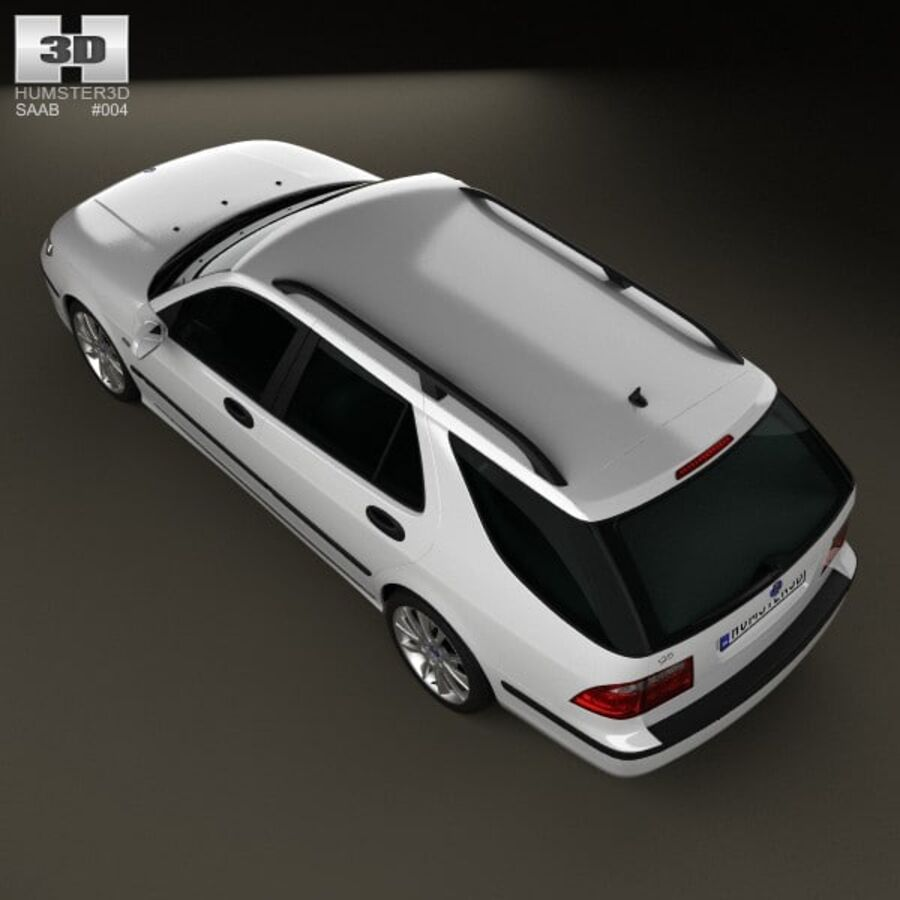 Saab 9-5 Aero vagn 2005 royalty-free 3d model - Preview no. 9